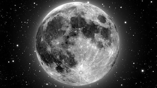 луна будет моргать